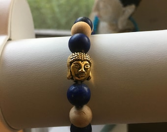 Contemplate Meditate-  Crystal Mala Meditation Bracelet