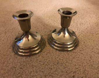 FB Rogers Vintage Silverplate Candle Holders