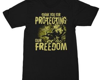 Thank You for Protecting Our Freedom Men's T-Shirt; Support Our Troops