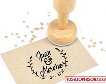 Wooden Stamp for Weddings Mod. 06