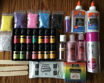 Sale- DIY SLIME KIT + Recipe - pick your own scent