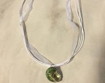 Summer inspired shell charm necklace