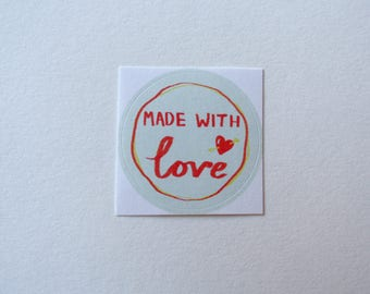 Made With Love Sticker (Pack of 4)