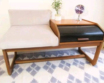 Retro vintage telephone table