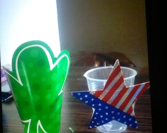 St. Patrick's Day and 4th of July candy cups