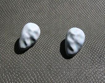 Vintage clip on earrings in light blue