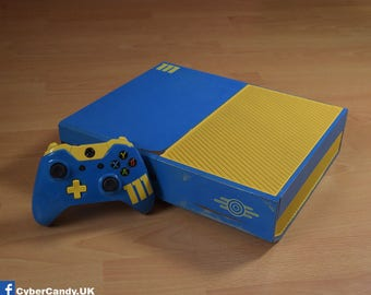 Custom Painted Xbox One 500GB Fallout 4 Vault-Tec Console