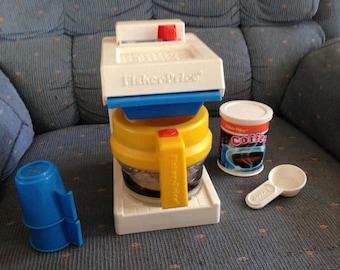Vintage VERY RARE Fisher Price coffee maker