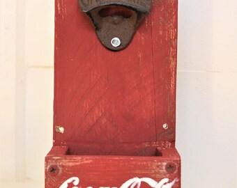 Rustic Coca cola bottle opener