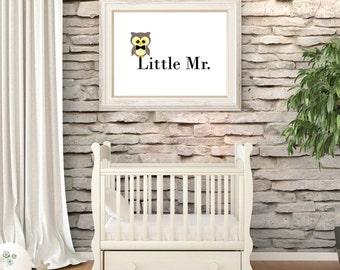 Owl wall art. Kids. Nursery. Childrens bedroom. Printable Wall Art.Boy Print.Instant Digital Download Print