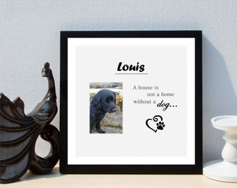 Personalised Mans Best Friend Dog/Cat/Any Pet Framed Print