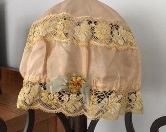 Vintage 1920's to 1930's boudoir cap/hat