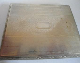 Vintage CIGARETTE CASE 1950's Presto Nickle Silver Made in USA