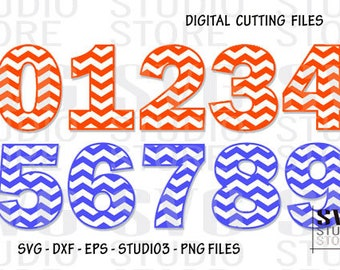 Svg, dxf,eps,png, digital cutting files - 1005- Chevron numbers - Digital Cutting File - Vector File - Cut Files for Silhouette