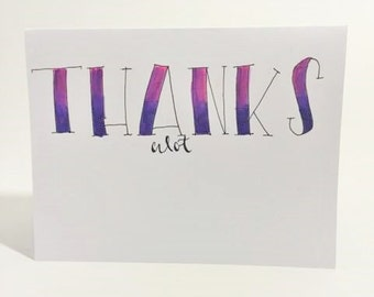 One of a kind- Thank a lot greeting card