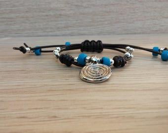 Women leather bracelet,leather bracelet,leather bracelet for women,beaded bracelet,Wrap Bracelet
