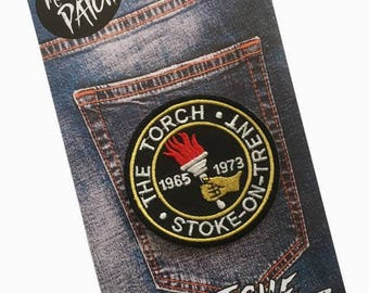 The Torch - Stoke on Trent Embroidered Iron On Patch