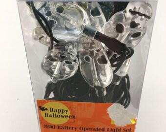 Skull Lights, Wreath Supplies, Battery Lights, Halloween Decor, Halloween Party, Skull Decor
