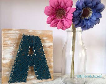 Wooden Block Yarn Letter