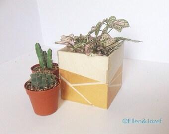 Geometric Gold Storage Box