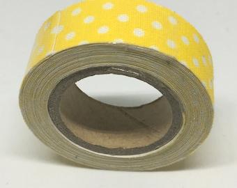 Washi Tape - Yellow and White Polka Dot Washi Tape - Polka DotWashi Tape - Decorative Tape - Adhesive Tape -