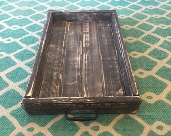 Distressed Wooden Tray, Decorative Tray, Display Holder, Decor Tray, Centrepiece