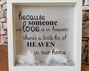 Because someone we love is in heaven frame memorial gift
