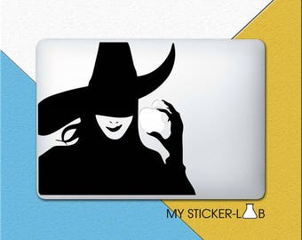 Witch MacBook Decal Witch MacBook Sticker Witch Sticker Witch Decal The Wizard Of Oz Sticker Wicked Witch Of The West MacBook Shadow m524