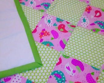 x. Crib size quilts apx. 37 by 48 inches