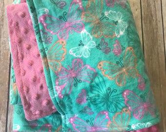 Baby Girl Butterfly Blanket soft