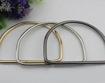 4pcs silver light golden  black Metal purse D ring handle wholesale   13*10 cm