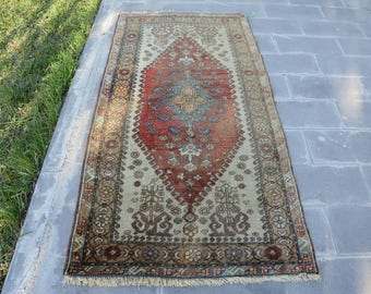 Vegetable Dyes Wool Rug 2.7'x5.6' ft Turkish Rug Vintage Turkish Rug Tribal Rug Nomadic Rug Vintage Turkish Carpet Code 420