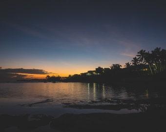 Beach Photo - Ocean Photography - Coastal Photography - Wall Art -Ocean Photo - Sunset Photography - Beach Decor - Beach Photo - Palm Trees