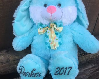 Personalized Easter Bunny, personalized easter gift, easter bunny, easter gift, easter rabbit, stuffed bunny, personalized bunny