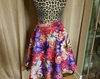 Floral, mid-length, skirt