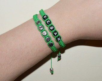 Green Vegan Bracelet