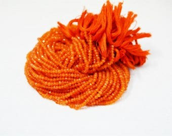 Natural Carnelian Faceted Rondelles / Finest Quality / 3-4 mm /14 inch strand / 5Strands