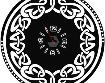 Custom Vinyl wall clock decorated black and white