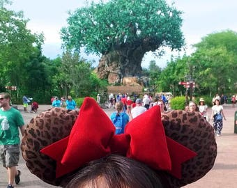 Leopard Animal Print Disney Ears