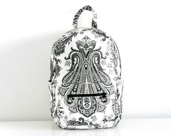 Black and white bag / Backpack / Handmade bags / Fashion bags / Wholesale