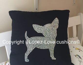 Crystal Bling Chihuahua Cushion short coat