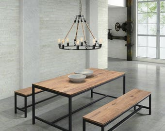 Dinning Tables, Benches, Industrial chic, Reclaimed Wood Steel, Restaurants, Coffee Shop