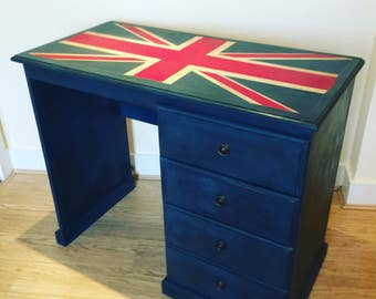 Quirky Hand painted Union Jack Desk. Great for kids room!