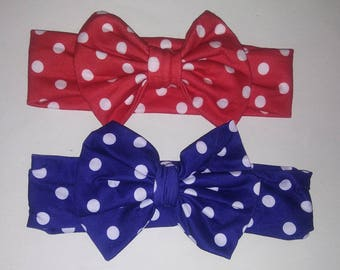 Set of 2 Polka dot headband