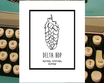 Delta Hop.  Farmpunk greeting card for Hops Lovers and BEER Lovers...