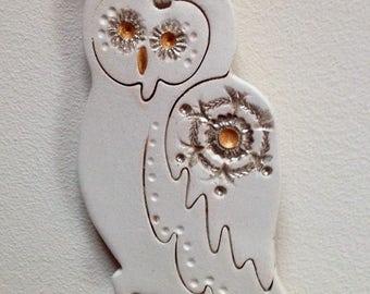 OWL Home decor Ceramic Gift Handmade wall decor
