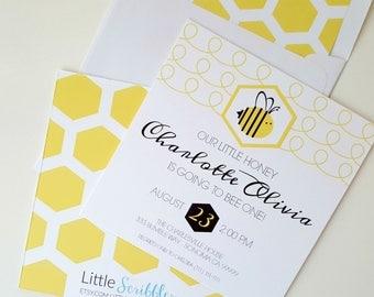 Going to Bee Invitation . Bee Birthday Invitation . First Birthday Invitation . Bumble Bee Invitation . Bee Birthday . Bee One Birthday