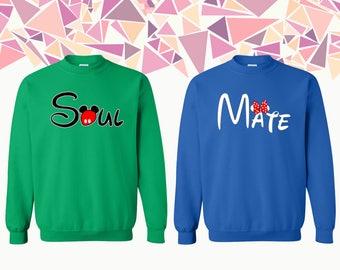 Soul Mate Crewneck Sweatshirt Love Soul Mate Sweater Soul Mate Couple Crewneck Couple Crewneck Sweatshirt Couple Sweater Gift For Couple