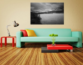 Icelandic scenery, steaming lake, fine art, wall art and decoration