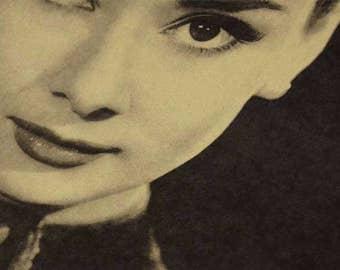 Audrey Hepburn - Vintage Photograph Poster Print